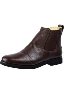Botina Masculina Doctor Shoes 8611 Elástico Café