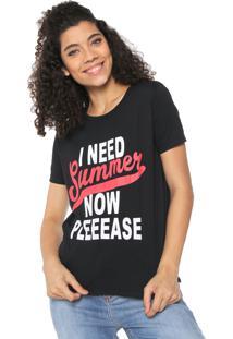 Camiseta Fiveblu Estampada Preta