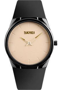 Relógio Skmei Analógico 1601S Bege
