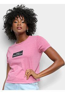 Camiseta Lecimar Estampada Create Feminina - Feminino-Rosa