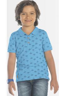 Polo Infantil Coqueiros Azul