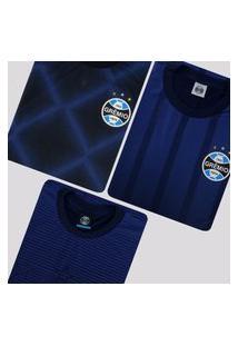 Kit De 3 Camisas Grêmio Flag