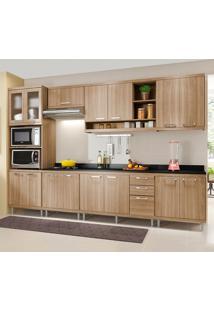 Cozinha Completa Com Tampo 15 Portas 5835 Argila - Multimóveis