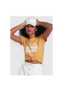 Camiseta Roxy Flowers Amarela