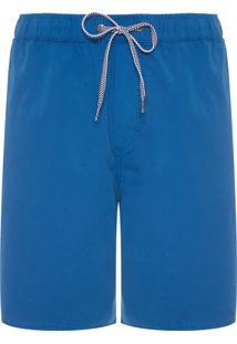 Bermuda Masculina Elástico Espatulada - Azul Marinho
