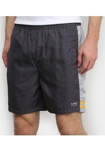 Shorts Gajang Fitness Bolsos Listra Lateral Masculino - Masculino-Chumbo
