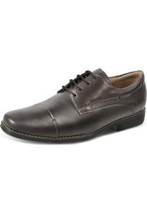 28c9443f1 Sapato Social Derby Sandro Moscoloni Golden Shoes Marrom Escuro