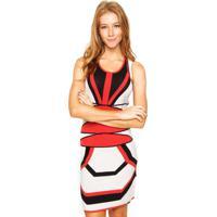 d575c6f28 Vestido Geometrico Vermelho feminino   Shoes4you