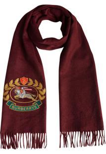 Burberry Cachecol Com Logo De Cashmere - Vermelho
