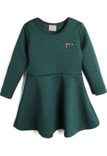 Vestido Milon Infantil Textura Verde