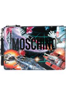 Moschino Clutch 'Transformer' - Estampado