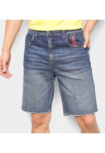Bermuda Jeans Ellus 2Nd Floor Masculina - Masculino-Azul