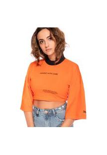 "T-Shirt Estampada ""Handle With Care"""""""