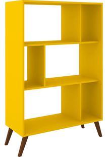Estante Para Livros Baixa Rt 3015 Amarelo - Móvel Bento