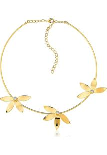 Colar Le Diamond Flores Dourado