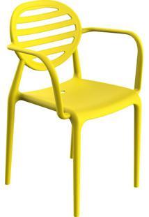 Cadeira Stripe Com Braço Limão Siciliano
