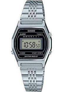 Relógio Casio Vintage Digital La690Wa-1Df Feminino - Feminino-Prata