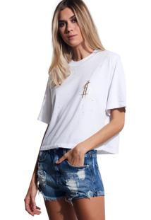 Camiseta John John Success Malha Off White Feminina (Off White, G)