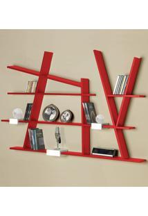 Prateleira Decorativa Turner 325 Vermelho - Maxima