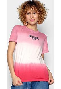 Camiseta Colcci Influential Generation Feminina - Feminino-Rosa