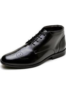 Sapato Social Couro Lux Reta Oposta Masculino - Masculino