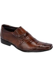Sapato Masculino Social Em Couro Leoppé - Masculino-Marrom