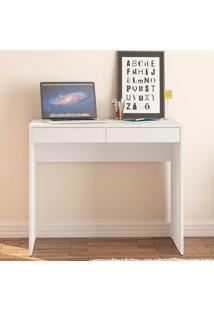 Mesa Para Computador Com 2 Gavetas Tijuca - Politorno - Branco