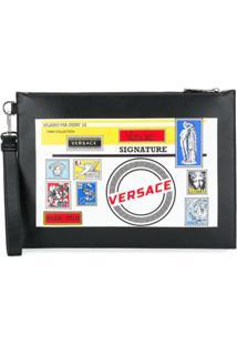 Versace Clutch Com Estampa - Preto