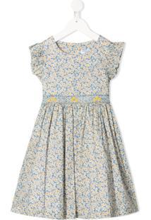Siola Vestido Com Estampa De Margarida - Azul