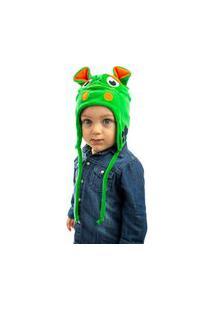 Touca Everly Plush Monstrinho Verde