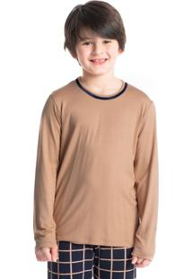 Pijama Infantil Masculino Xadrez Longo Loyalty