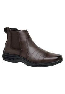 Botina Bota Sapato Social Masculino Ortopédico Couro Legítimo