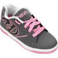 98c44d762c Tênis Com Rodinha Heelys Propel 2.0 Juvenil - Feminino-Cinza+Rosa