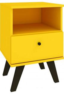 Criado Mudo 1 Gaveta Natu Delmarco Móveis Amarelo