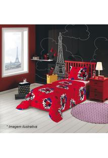 cec0fb23e0 Jogo De Cama Solteiro Ladybug®- Vermelho   Pink- 2Pçlepper