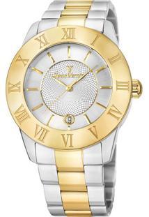 Relógio Analógico Jv01018- Prateado & Dourado- Jean Jean Vernier