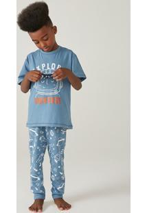 Pijama Infantil Menino Com Aplique Interativo