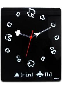 Relógio De Parede Asteróides Geek10 - Preto