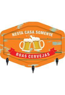 "Porta Chaves ""Boas Cervejas""- Laranja & Verde Escurokapos"