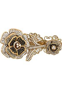 Dolce & Gabbana Broche English Com Aplicações - Dourado