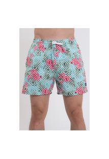 Bermuda Praia Short Masculino Suffix Com Bolsos Estampado Ref. 01