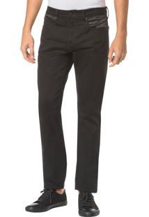 Calça Color Five Pockets Straight - Preto - 36