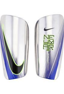 Caneleira De Futebol Nike Neymar Mercurial Lite - Adulto - Prata/Preto