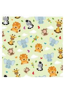 Papel De Parede Animais Safari Zoo Infantil 57X270Cm