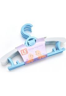 Cabide Le Plástico Kids Regulável Com 5 Unidades Az/Br