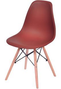 Cadeira Eames Dkr- Telha & Madeira- 80,5X46,5X42Cm