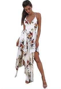 Vestido Floral Assimétrico