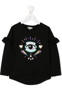 Kenzo Kids Blusa Super Kenzo Eye - Preto