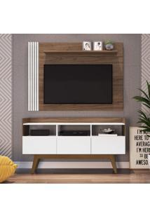 Estante Home Para Tv Até 50 Polegadas 3 Portas 3 Nichos Vitrola Estilare