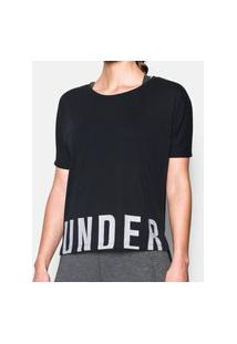Camiseta Under Armour Threadborne Train Oversize Under Armour Preto